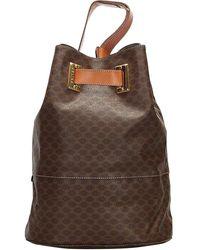 Céline Brown Pvc Macadam Backpack