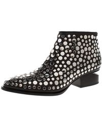 Alexander Wang Black Studded Leather Gabi Ankle Boots