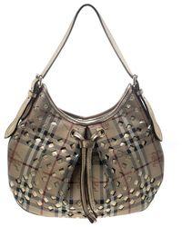 Burberry \n Beige Leather Handbag - Natural
