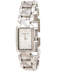 Burberry Silver Stainless Steel Heritage Bu4211 Women's Wristwatch 18 Mm - Metallic