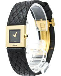 Chanel - 18k Yellow Gold Matelasse Women's Wristwatch 19mm - Lyst
