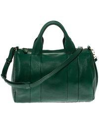 Alexander Wang Green Textured Leather Rocco Duffel Bag
