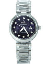 Omega De Ville Purple Steel Watch