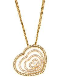 Chopard 18k 3.10 Ct. Tw. Diamond Necklace - Metallic