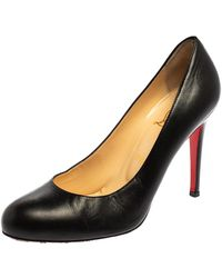 Christian Louboutin Black Leather New Simple Court Shoes