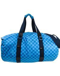 Louis Vuitton Blue Damier Nylon Aventure Practical Boston Bag