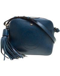 Anya Hindmarch - Leather Smiley Crossbody Bag - Lyst