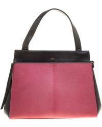 Céline - Black/ Leather And Calf Hair Medium Edge Bag - Lyst