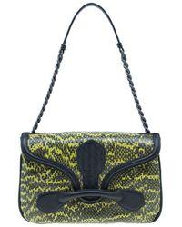 d976a7a8b0 Bottega Veneta - Black And Snake Print Elaphe Rialto Shoulder Bag - Lyst