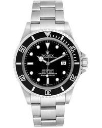 Rolex Black Stainless Steel Submariner 14060 Men's Wristwatch 40mm