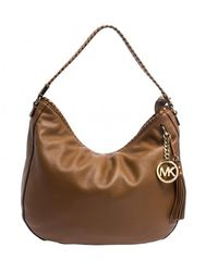 MICHAEL Michael Kors Brown Leather Whipstitch Hobo