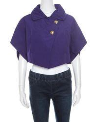 Louis Vuitton Purple Polyester Jacket