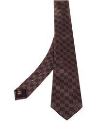 Louis Vuitton Brown Damier Ebene Silk Classic Tie