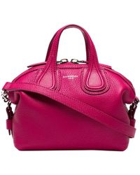 Givenchy Fuchsia Leather New Micro Nightingale Top Handle Bag - Pink