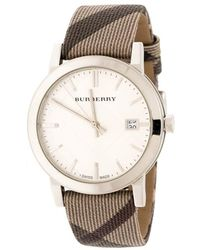 Burberry Silver Stainless Steel The City Bu9022 Women's Wristwatch 38 Mm - Gray