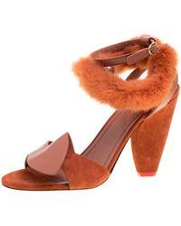 Celine \n Brown Leather Sandals
