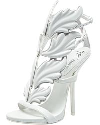 Giuseppe Zanotti White Leather Cruel Wing Sandals