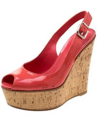 Gianvito Rossi Patent Leather Sandal - Pink
