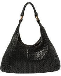 Bottega Veneta - Black Intrecciato Leather Hobo - Lyst