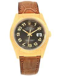 Rolex - 18k Yellow Gold Datejust Men's Wristwatch 36mm - Lyst
