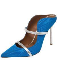 Malone Souliers Blue Canvas Maureen Sandals