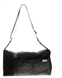 Givenchy - Black Nylon And Leather Duffle Bag - Lyst