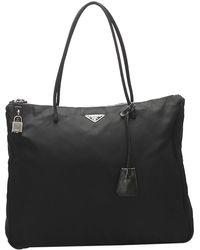 Prada Black Nylon Tessuto Bag