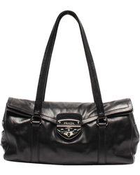 Prada Black Soft Calf Leather Easy Bag