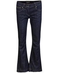 Burberry London Indigo Dark Wash Denim Flared Bottom Windsor Jeans M - Blue