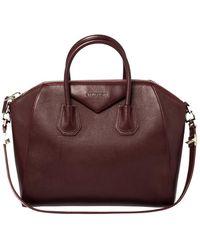 Givenchy Burgundy Leather Medium Antigona Satchel - Multicolour