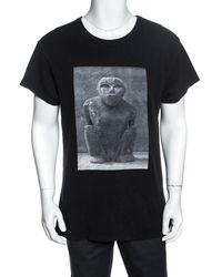 Amiri Black Printed Jersey Oversized T-shirt