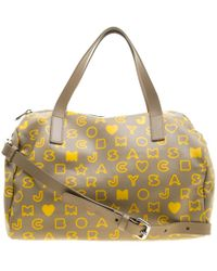 Marc By Marc Jacobs - Beige/yellow Coated Canvas Easy Bowling Bag - Lyst