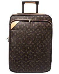 Louis Vuitton Monogram Canvas Business Pegase Legere 55 Luggage - Brown