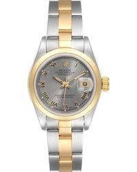 Rolex Silver 18k Yellow Gold And Stainless Steel Datejust 69163 Wristwatch 26 Mm - Metallic