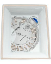 Cartier White/silver Porcelain Ballon Bleu Watch Ashtray
