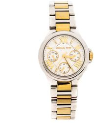 Michael Kors - White Two-tone Stainless Steel Mini Camille Mk5760 Women's Wristwatch 33 Mm - Lyst