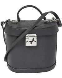 Mark Cross Black Leather Benchley Top Handle Bag