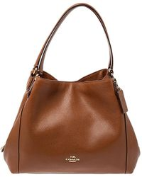 COACH Brown Leather Hadley Hobo