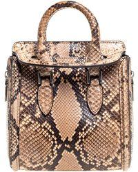 Alexander McQueen Multicolour Python Mini Heroine Bag