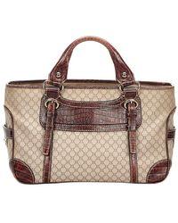 Céline - Beige/dark Brown Macadam Leather Boogie Bag - Lyst
