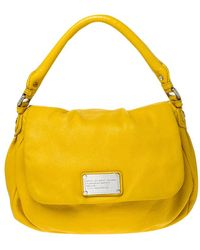 Marc By Marc Jacobs Yellow Leather Classic Q Lil Ukita Top Handle Bag