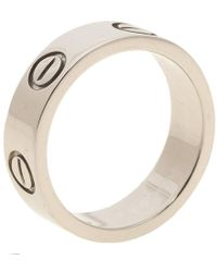 Cartier - Love Platinum Band Ring - Lyst