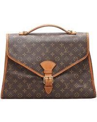 Louis Vuitton Monogram Bel Air Gm Briefcase - Brown