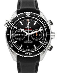 Omega Black Stainless Steel Seamaster Planet Ocean 600m Chronograph 232.32.46.51.01.003 Wristwatch 45.5 Mm