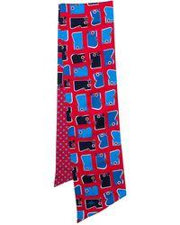 Hermès Hermès Red & Blue Camails Silk Maxi Twilly