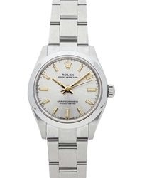 Rolex Silver Stainless Steel Oyster Perpetual 277200 Automatic Wristwatch 31 Mm - Metallic