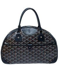 Goyard Black Ine Coated Canvas And Leather St. Jeanne Mm Bowler Bag