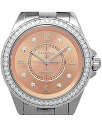 Chanel - Ceramic And Titanium Diamond J12 Men's Wristwatch 38mm - Lyst