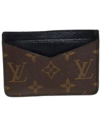 Louis Vuitton Monogram Macassar Canvas Neo Porte Cartes Card Holder - Brown