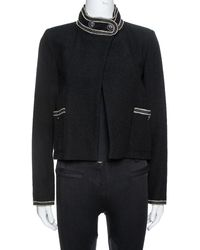 Chanel Black Tweed Boucle Jacket